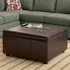 round ottomans coffee tables lovely ottomans leather ottoman brown round storage seat with