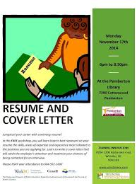 Free Resume Writing Services Magnificent Free Resume And Cover Letter Writing Workshop Monday November 28