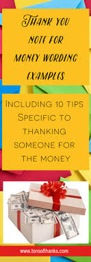 Thank You Note Examples How To Write A Thank You Note For Money With Examples