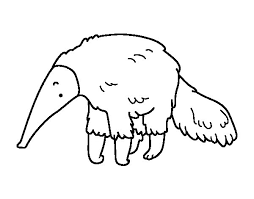 Small Picture Furry anteater coloring page Coloringcrewcom