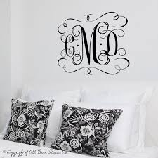 large vinyl monogram wall decal custom