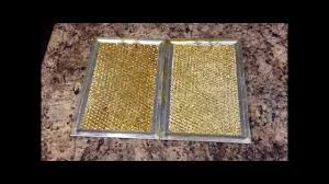 Exhaust Hood Filter How To Clean Stove Hood Filter Youtube