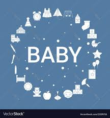Baby Icon Set Infographic Template Royalty Free Vector Image