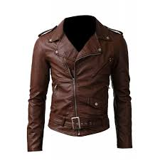 belted rider fancy brown leather jacket men s leather jacket