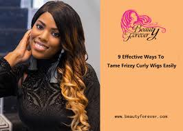 tame frizzy curly wigs
