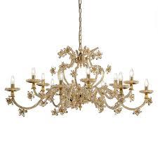 elegant fl design gold crystal chandelier