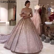 Розовое Бальное платье с блестками, Формальные Вечерние платья 2020,  блестящий халат с открытыми плечами, длинные платья для выпускного бала,  блестящее Макси платье|Вечерние платья| | АлиЭкспресс