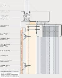 thermatile to curtain wall sill abutment detail