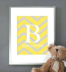 custom nursery wall art chevron nursery decor baby nursery art baby monogram print custom nursery wall