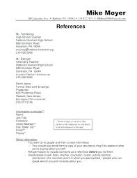 Resume References Format Reference Page With Job Template Free Sa