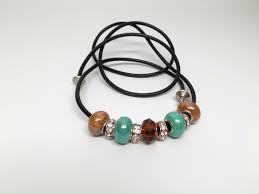 leather hair tie jewel colors 7