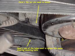 how to replace a serpentine belt on a gm 3800 series ii engine 3 8 as long as you don t remove these two nuts the engine will remain supported i don t remember needing to support the engine a jack