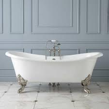 lena cast iron clawfoot double slipper tub