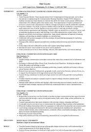 Communications Specialist Resume Strategic Communications Specialist Resume Samples Velvet Jobs 10