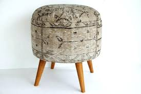 rug covered ottoman ottomans and benches bench ottoman living room storage stool upholstered bench round table rug covered ottoman