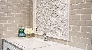 since it generally covers a much smaller area than your main wall or floor tile