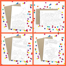 If you like the color scheme of these halloween cards and would like to create you printables using the patterns we used here, then head over to photoshopfreebrushes.com where you can download them. Free Printable Halloween Cards To Colour Mum In The Madhouse