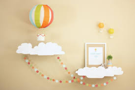 owen s hot air balloon by elizabeth melisa of project nursery says this diy party has a clever diffe theme executed well with simple things like
