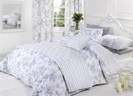 lauren rose fl flower blue grey white duvet
