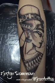 Tattoo Nefertiti портрет маска лицо восток Tattoo Rouse