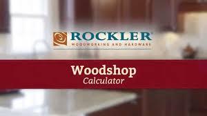 wood calculator for making cabinet doors