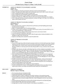 Assistant Product Manager Resume Samples Velvet Jobs