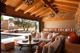 pool house interior design.  Design Pool House Covered Seating Dining Room Intended Interior Design
