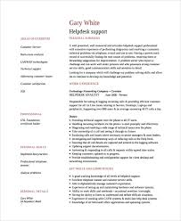 Support Technician Resume Help Desk Technician Resume Template 8 Free Documents