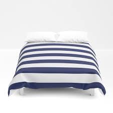 navy blue and white stripes duvet cover