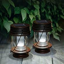 Gigalumi Hanging Solar Lights Landscape Lantern Hanging Solar Lights Outdoor 2pk Abs Plastic Waterproof White