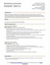 Admissions Counselor Resume Samples Qwikresume