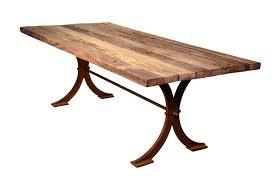 recycled teak table with iron cross base teak garden table