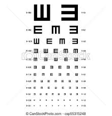 Are All Eye Exam Charts The Same Eye Test Chart Vector E Chart Vision Exam Optometrist Check Medical Eye Diagnostic Sight Eyesight Ophthalmic Table For Visual Examination