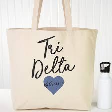 delta delta delta personalized tote bag 20 x 15