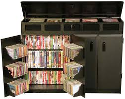 top load double wide cd dvd storage cabinet with locking compartments s2362