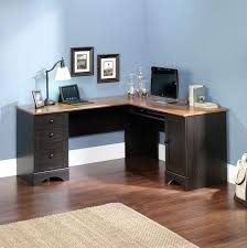 incredible gaming large computer desk for multiple monitors sauder harbor view corner with hutch antiqued paint
