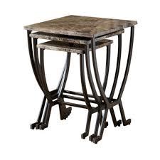 hilale monaco nesting tables in matte espresso finish