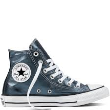 converse metallic. chuck taylor all star metallic canvas blue fir/white/black converse t