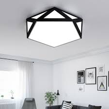 diy ceiling lighting. Modern Iron Led Ceiling Light Surface Mounted DIY Geometric Lamp  For Bedroom/study Room Diy Lighting