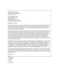 Cover Letter Format For Electrical Engineer Cover Letter Electrical