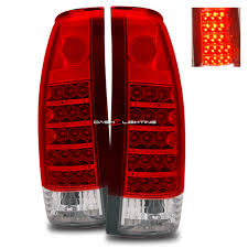 dash z racing lighting aftermarket lights tail lights 88 98 gmc sierra led tail lights red clear
