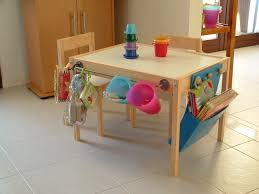 Kids Desk With Storage Cream Particle Wood Kids Work Station Desk With Colorful Hanging