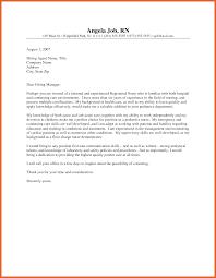 Sample Nursing Cover Letters 2424 Cover Letter Rn Leterformat 11