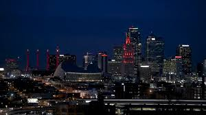Charlie Hustle Plaza Lights Kansas City Is Painted Red Ahead Of Chiefs Playoff Game