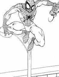Kleurennu Spiderman Op Lantaarnpaal Kleurplaten