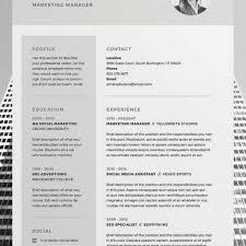 pro cv template best 25 cv template ideas on pinterest layout cv creative cv for