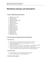 Marketing Director Resume Assistant Marketing Manager Job Description Director Operations 98