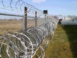 Razor Wire Fencing as Security Barrier Protect Many Areas
