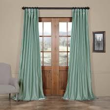com half ds ptch jtsp5 84 faux silk taffeta curtain robin s egg home kitchen