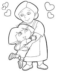 Kleurplaat Van Dora En Oma Dora
